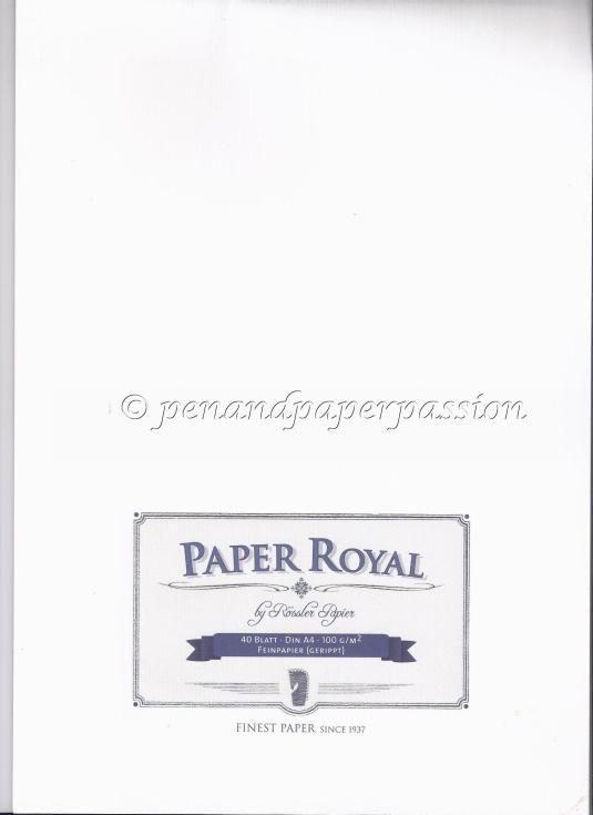 Rössler Paper Royal 100g gerippt Umschlag